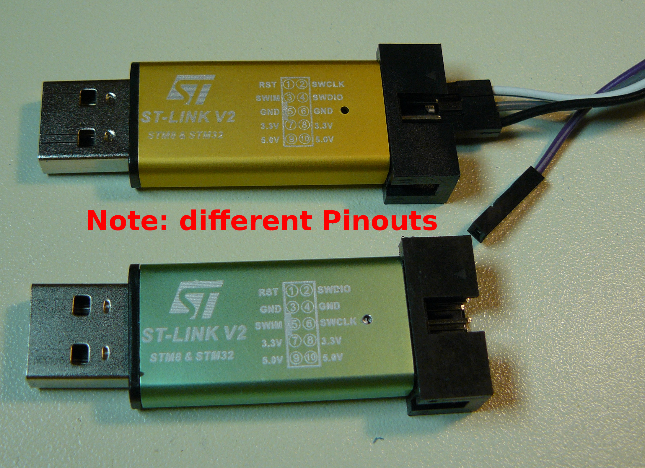 Cheap Chinese ST-Link v 2 Programmer converted to Black
